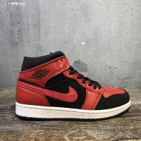 Air Jordan 1 Mid SKU 554724-054 AJ1 Mid Top New Edition Of This Black And Red Small Forbidden To Wear Outlet