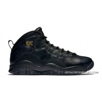 "2019 Copuon Air Jordan 10 ""NYC"" Black/Black-Dark Grey-Metallic Gold"