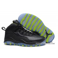 Air Jordan 10 Retro Black-Grey/Venom Green 2019 Discount