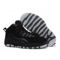 2019 Free Shipping Air Jordan 10 Retro Black/White-Stealth