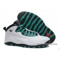 "Air Jordan 10 Retro ""Verde"" White/Verde-Black-Infrared 23 2019 Discount"