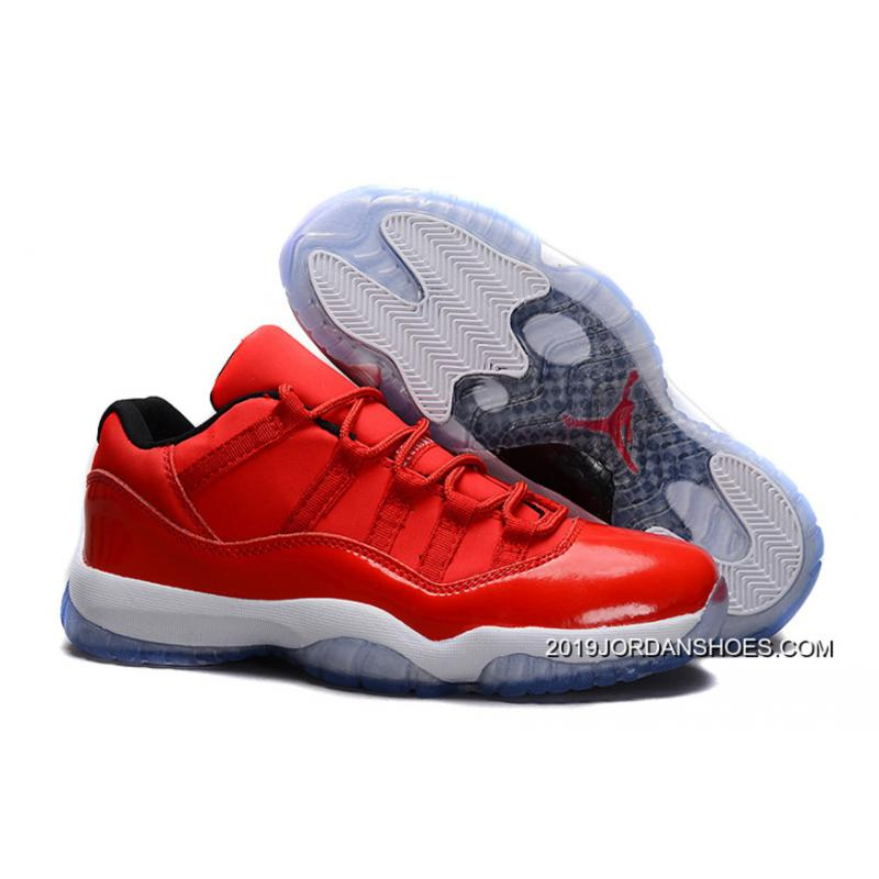 "ff7b3c405b099d 2019 New Release Air Jordan 11 Retro Low ""Red"" PE Carmelo Anthony Red  ..."