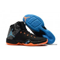 "2019 New Release Air Jordan 30.5 ""MVP"" Black/Total Orange-Blue Hero"