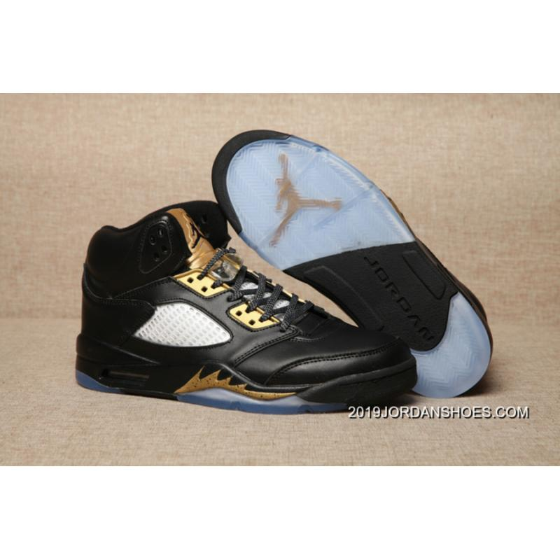 size 40 735d1 e39f1 2019 New Release Air Jordan 5 Olympic Black Metallic Gold ...