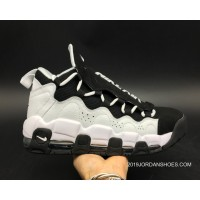 Women/Men Super Deals Nike Air More Money Black White