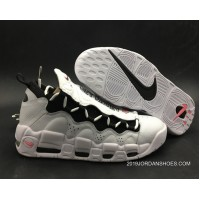 Women/Men Nike Air More Money 'Mo Money' White/Black-University Red Latest