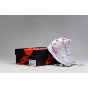 2019 New Year Deals Air Jordan 1 GS Grey Pink White Shoes