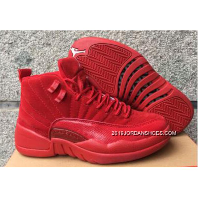 "f718396eacb 2019 New Style Air Jordan 12 GS ""Red Suede"" ..."