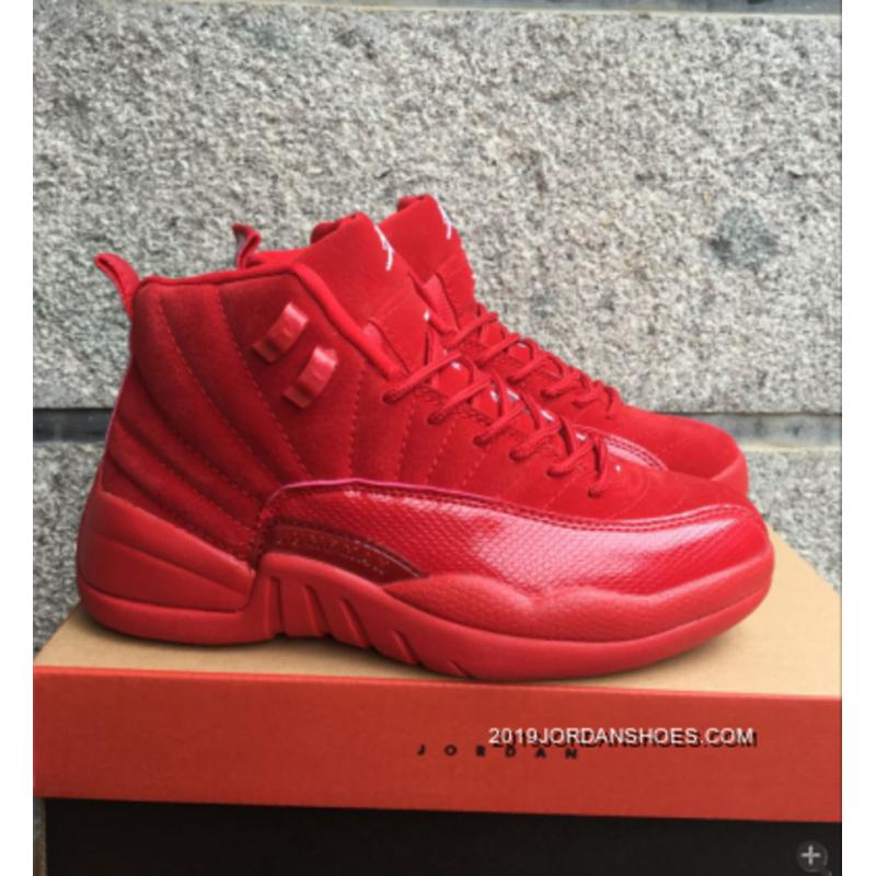 """official photos f1cb3 8ba93 2019 New Style Air Jordan 12 GS """"Red Suede"""""""