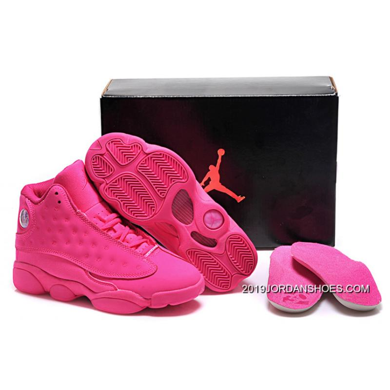 timeless design 553bc 57886 ... where to buy 2019 latest air jordan 13 gs all pink shoes 86d7a a1a65