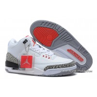 2019 Outlet Air Jordan 3 Retro '88 White/Fire Red-Cement Grey-Black