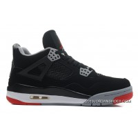 """Air Jordan 4 """"Bred"""" Black/Cement Grey-Fire Red 2019 Outlet"""
