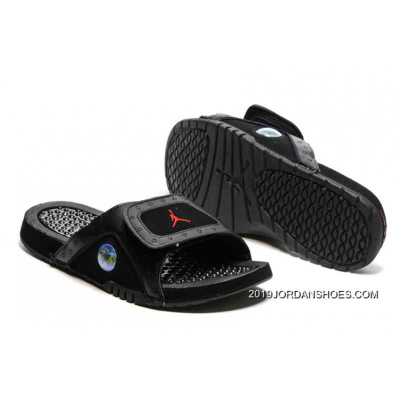 737384db7b8d2b ... 2019 Top Deals Jordan Hydro 13 Slide Sandals Black Gym Red ... 2019 New  Style Jordan Hydro 13 Slide Sandals White Black True Red Cement  HPaC ...
