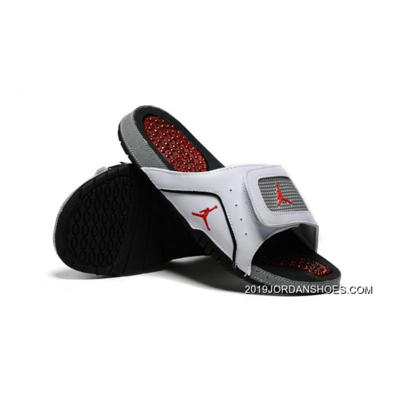8d0a7fe71a89 2019 For Sale Jordan Hydro 4 White Cement-Grey Red ...
