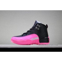 """For Sale Kid's Air Jordan 12 """"Deadly Pink"""" Free Shipping SKU:154270-699"""