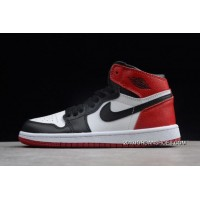 "outlet store d379e a5f2b Latest Kid s Air Jordan 1 ""Black Toe"" White Black-Gym Red SKU"