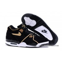 2019 Copuon Nike Air Flight '89 Black/Metallic Bronze-White Shoes