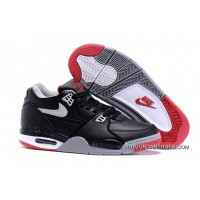 "Nike Air Flight '89 ""Bred"" Black/Cement Grey-Fire Red-White Shoes 2019 Outlet"