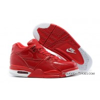 2019 New Year Deals Nike Air Flight '89 Red Leather Basketball Shoes