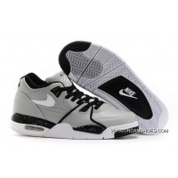 Nike Air Flight '89 Wolf Grey/Black-White Shoes 2019 Latest