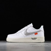 Men OFF-WHITE X Nike Air Force 1 Low Basketball Shoes SKU:191198-506 2020 New Release