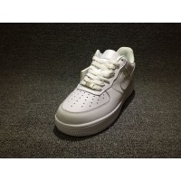 Nike Air Force One AF1 All White Low Women Shoes And Men Shoes 315122-111 Latest