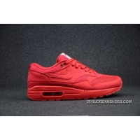 Men Nike Air Max 1 Premium In University Red Running Shoes SKU:233158-405 New Arrival
