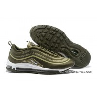 Nike Air Max 97 UL17 Olive Green Men's-Women's Running Shoes Sneakers 2020 New Style SKU:218549-737