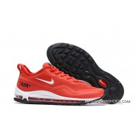 2020 In Stock Nike Air Max 97 UL'17 SE Gym Red/Black-White Breathable Lightweight Sneakers SKU:312706-985