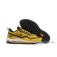 2020 For Online Sale Nike Air Max 97 UL'17 SE Men's Shoes Ginger Yellow/Black Breathable Lightweight Sneakers SKU:143736-983