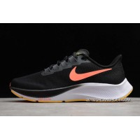 Nike Air Zoom Pegasus 37 Black/Bright Mango-White BQ9646-010 Authentic