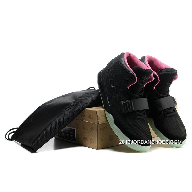 the latest 3c974 f9828 ... 2019 Online Nike Air Yeezy 2 Black Solar Red Glow In The Dark