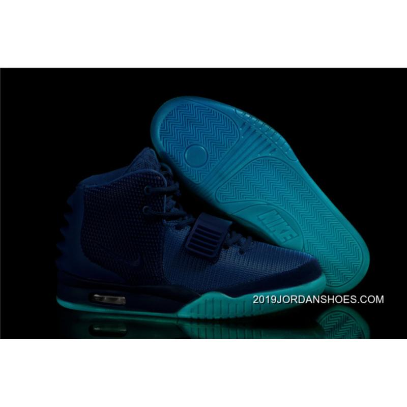 Nike Air Yeezy 2 Gamma Blue Glow In The Dark New Style