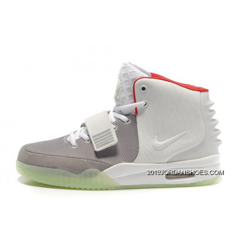 c09f82ee8 2019 Free Shipping Nike Air Yeezy 2 Wolf Grey Pure Platinum Glow In The Dark  ...