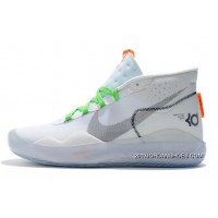 Nike KD 12 White/Volt-Black Free Shipping