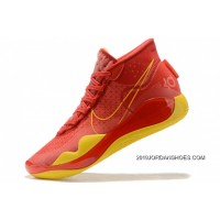 Super Deals Nike KD 12 EP Red/Yellow-Blue