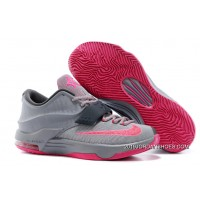 """2019 New Year Deals Nike Kevin Durant KD 7 VII """"Calm Before The Storm"""" Grey/Hyper Punch-Light Magnet Grey"""