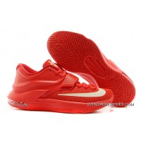 """2019 New Style Nike Kevin Durant KD 7 VII """"Global Game"""" Action Red/Metallic Silver"""