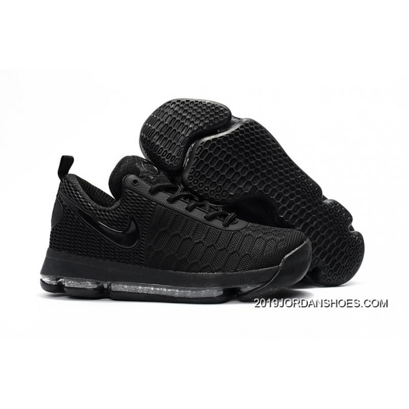 5d530e015578 Nike KD 9 All Black Basketball Shoes 2019 Outlet ...