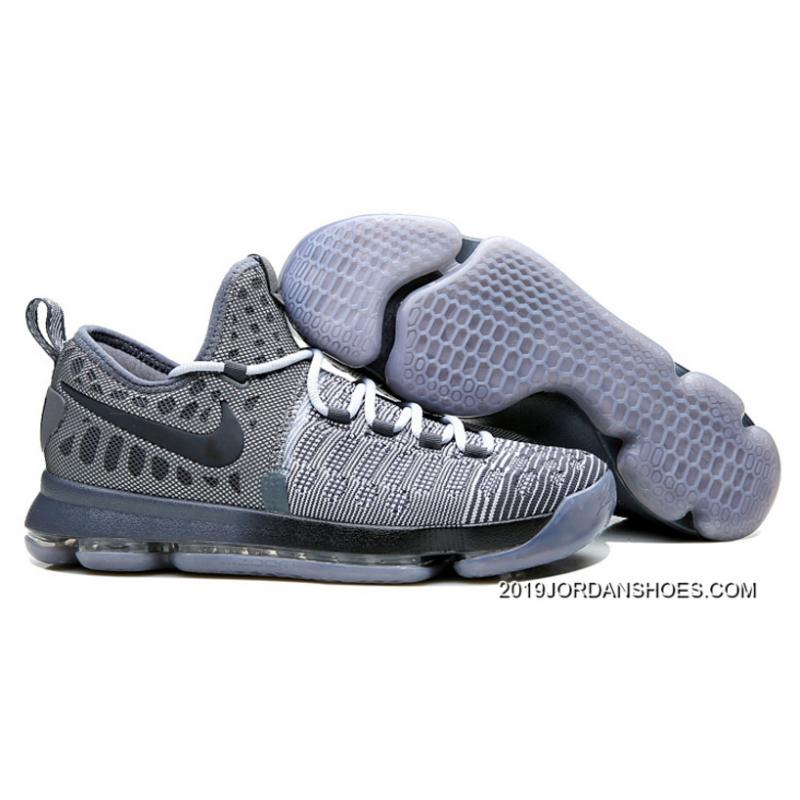 "new arrival a3c0a 48471 2019 Top Deals Nike KD 9 ""Battle Grey"" Wolf Grey Dark Grey ..."