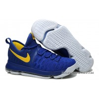 """2019 Top Deals Nike KD 9 """"Golden State Warriors"""" Blue Yellow White"""