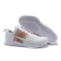 "2019 Outlet Nike Kobe 11 Elite ""4KB"" White Horse/Multicolor"