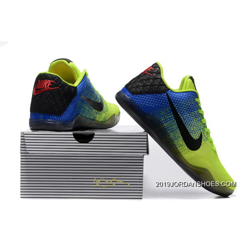dc36a9fb8769 ... Nike Kobe 11 Volt Blue Black Basketball Shoes 2019 Discount