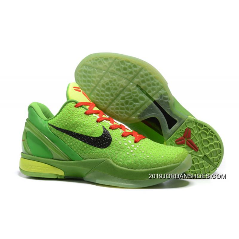 e3d357a6a38 2019 Top Deals Nike Zoom Kobe 6 Grinch Christmas Green Mamba Basketball  Shoes ...