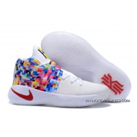 "Nike Kyrie 2 ""Effect"" White-Red/Multi-Color 2019 Online"
