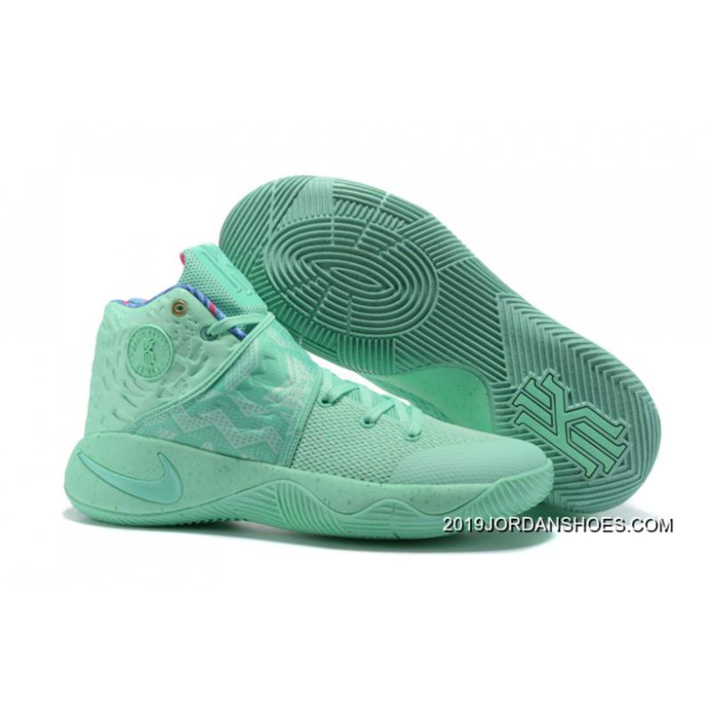 """buy online 1401b f93c7 Nike Kyrie 2 """"What The"""" Green Glow Green Glow 2019 New Release ..."""