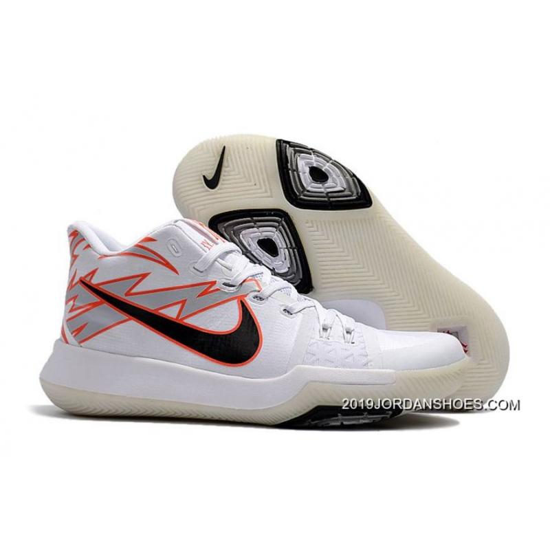 """newest 7d2b6 445f4 2019 For Sale Nike Kyrie Irving 3 """"Greased Lightning"""" PE White-Black  ..."""