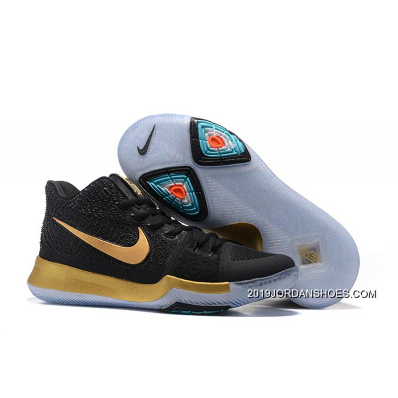 """best loved e9f0b 724c8 Nike Kyrie 3 """"Black Gold"""" 2019 New Style"""