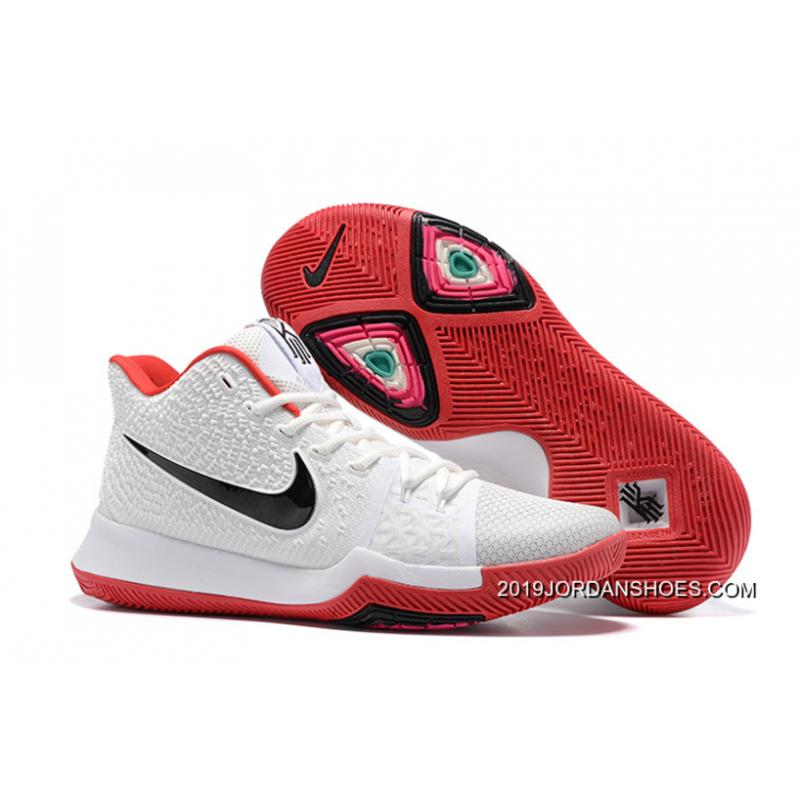 44ac190438b 2019 Super Deals Nike Kyrie 3 White Red Black ...