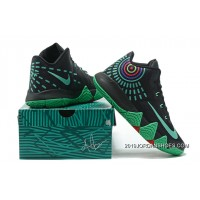 official photos b1e0b 60123 Nike Kyrie 4 Mens Basketball Shoes Black Green New Style